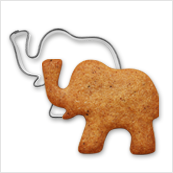 pepparkaksform elefant